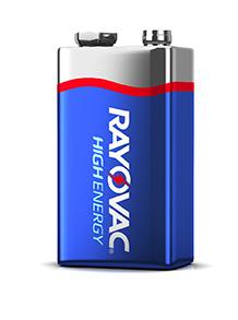 Rayovac High-Energy 9V battery
